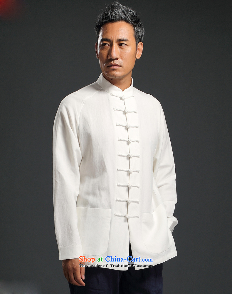 Natural Linen pure colors HUNNZ leisure relaxd long-sleeved China wind men Tang tray detained Men's Mock-Neck Han-White XL Photo, prices, brand platters! The elections are supplied in the national character of distribution, so action, buy now enjoy more preferential! As soon as possible.