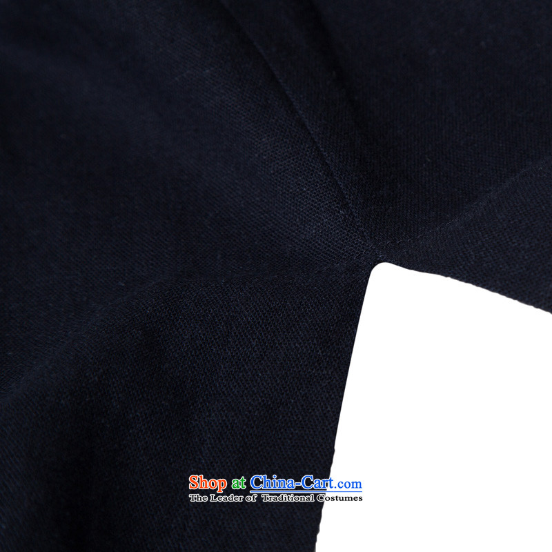 Hannizi聽China wind natural cotton linen Zen master service Tang dynasty Classic Han-Loose ball-wise Services Services Practice Deep Blue聽, Korea, XL, hannizi) , , , shopping on the Internet