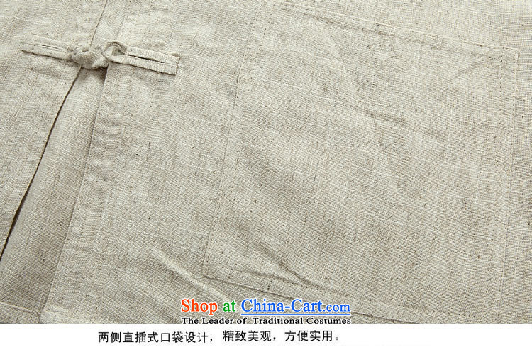 Kanaguri mouse autumn new linen long-sleeved Tang dynasty in long-sleeved older men Tang Dynasty Package beige jacket聽L picture, prices, brand platters! The elections are supplied in the national character of distribution, so action, buy now enjoy more preferential! As soon as possible.
