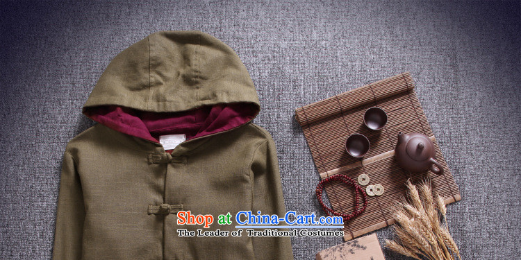 Dan Jie Shi 2015 new ethnic Chinese men Tang Dynasty of Korea disc detained hoodie retro ethnic jacket and leisure and olive greenM picture, prices, brand platters! The elections are supplied in the national character of distribution, so action, buy now enjoy more preferential! As soon as possible.