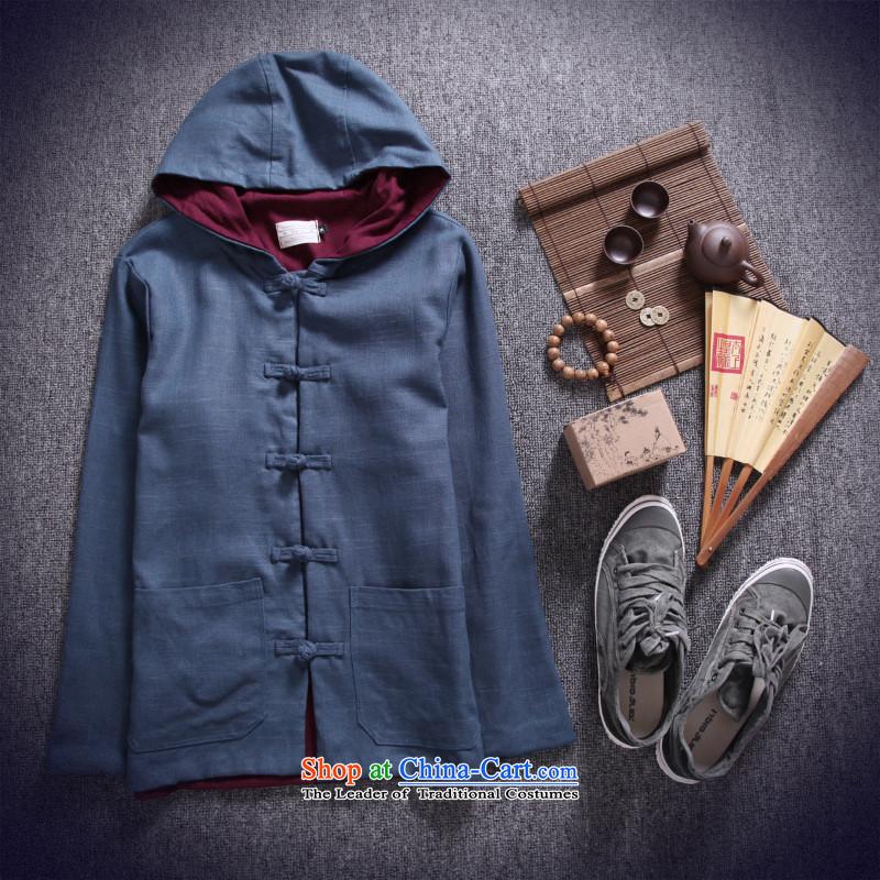 Dan Jie Shi 2015 new ethnic Chinese men Tang Dynasty of Korea disc detained hoodie retro ethnic jacket and leisure and olive greenM Dan Jie Shi (DAN JIE SHI) , , , shopping on the Internet