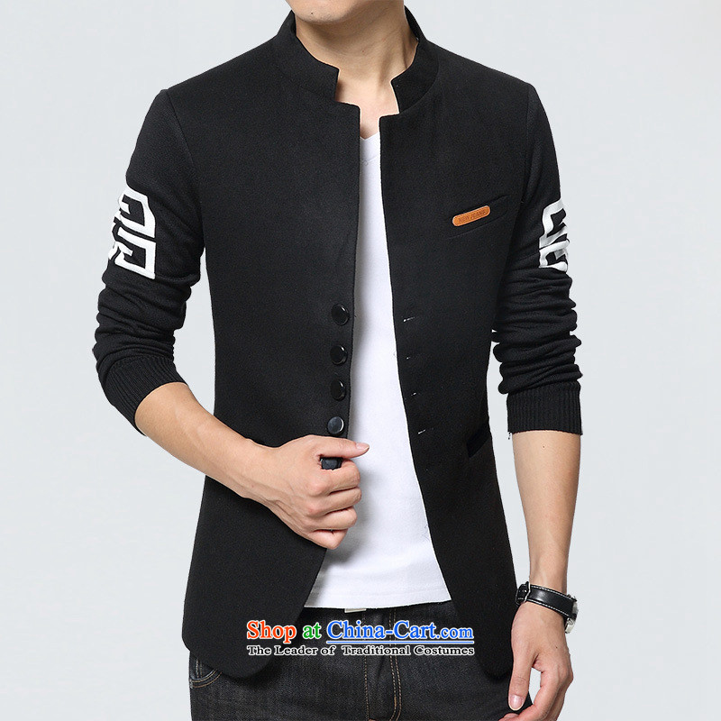 Dan Jie Shi 2015 New Chinese tunic autumn new stylish leisure suit male students decorated with youth jackets are small black suit聽XL
