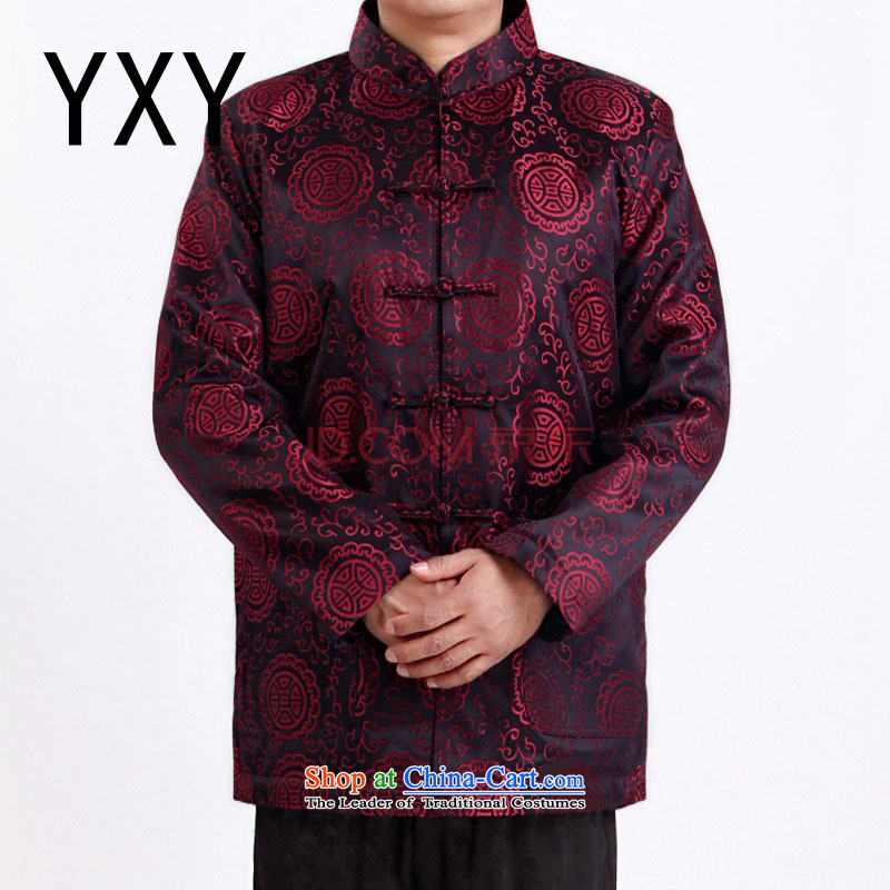 The end of the autumn and winter light grandpa older men Tang dynasty?DY1338 jackets with?red?XXXL