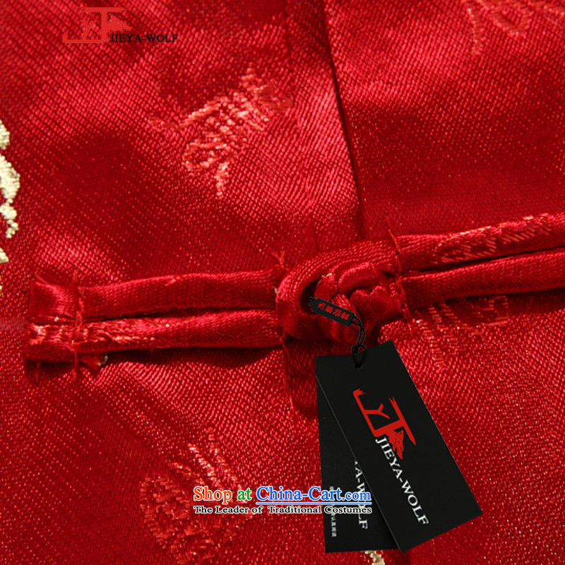 The wolf JIEYA-WOLF, New Tang dynasty men's jackets, autumn and winter for couples happy stylish men 2 big red-hi field聽170/M,JIEYA-WOLF,,, shopping on the Internet