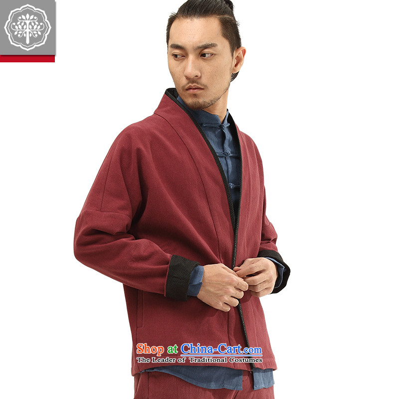 To Tree China wind autumn and winter new Tang dynasty men's Han-improved long-sleeved blouses and cotton linen color聽185/XXL, Hyun EYENSREE Tree (Context) , , , shopping on the Internet