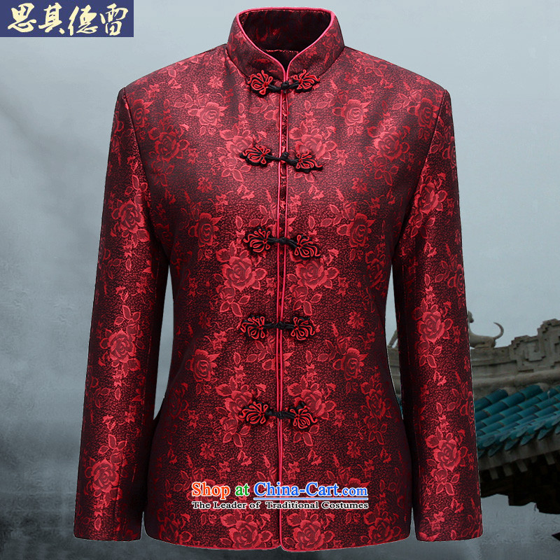 Shiqi Sodere female couple with Tang Dynasty Package elderly men over life at birth date dress jacket XQ05 grandfathers saika women燲XXL-190