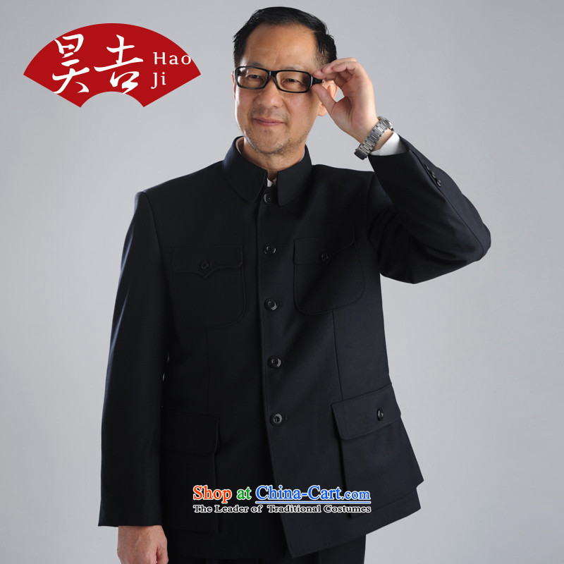 In spring and autumn, ho older men Chinese tunic suit for both business and leisure services to serve Zhongshan older persons Tang Kit (black) 70(165), lint-free Ho Chi , , , shopping on the Internet
