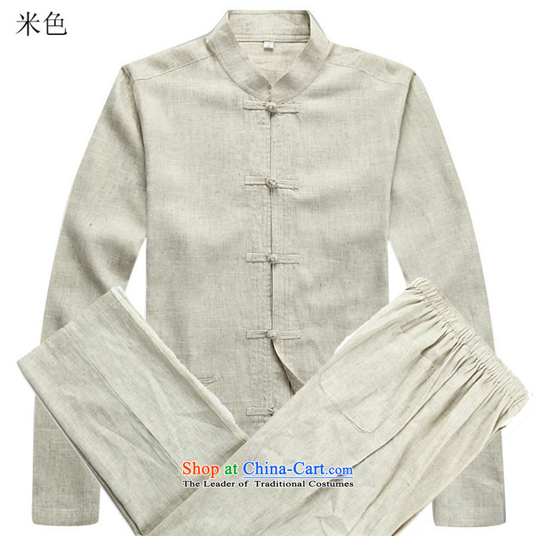 Kanaguri mouse in older long-sleeved men Tang Dynasty Package autumn new linen long-sleeved Tang dynasty and beige kit聽M picture, prices, brand platters! The elections are supplied in the national character of distribution, so action, buy now enjoy more preferential! As soon as possible.