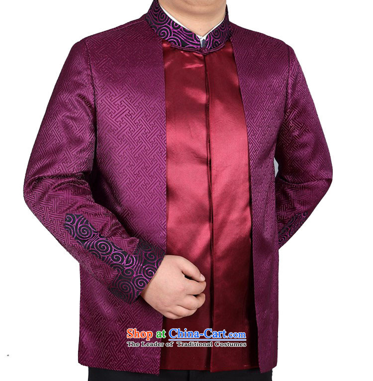 Kanaguri Mouse Tang jacket collar Chinese tunic of older tapes purple聽M picture, prices, brand platters! The elections are supplied in the national character of distribution, so action, buy now enjoy more preferential! As soon as possible.