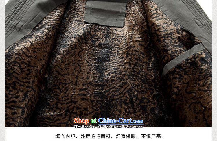 Kanaguri mouse new winter clothing thick men in Tang Dynasty cotton jacket older Men's Mock-Neck cotton coat Chinese father boxed national costumes聽XL/180 Deep Blue Photo, prices, brand platters! The elections are supplied in the national character of distribution, so action, buy now enjoy more preferential! As soon as possible.