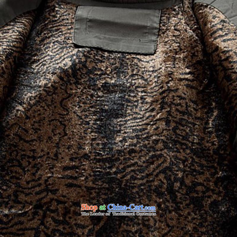 Kanaguri mouse new winter clothing thick men in Tang Dynasty cotton jacket older Men's Mock-Neck cotton coat Chinese father boxed national costumes聽XL/180, deep blue kanaguri mouse (JINLISHU) , , , shopping on the Internet