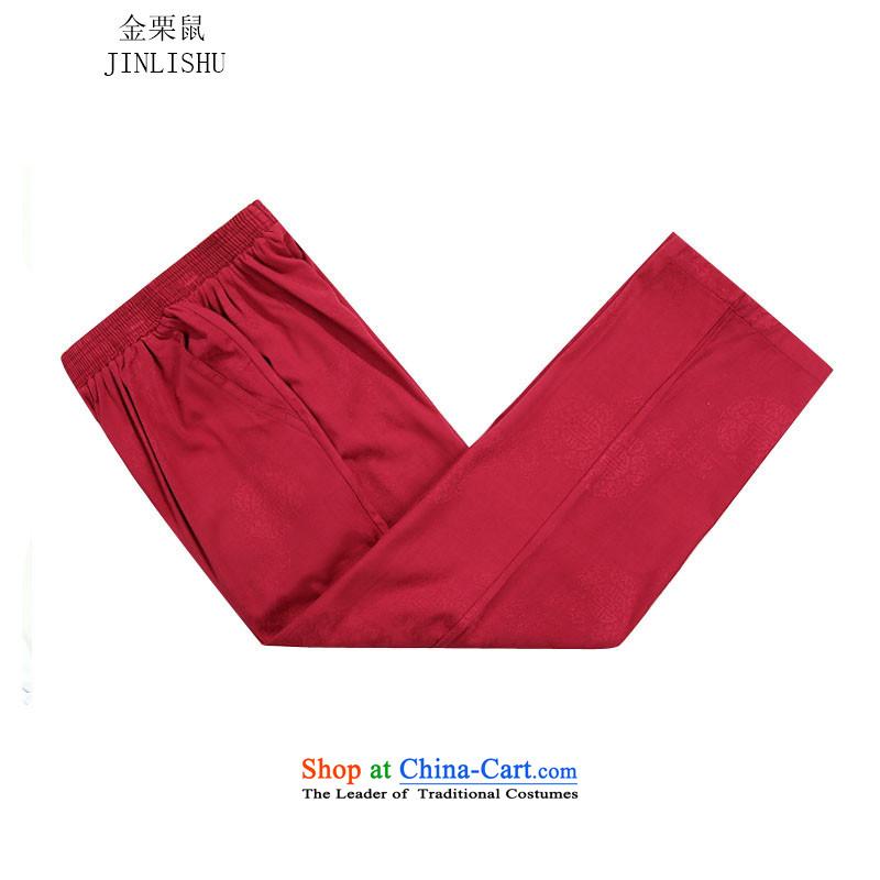 Kanaguri Mouse New Men Tang long-sleeved jacket kit collar China wind jacket in autumn Tang older red T-shirt聽70 kanaguri mouse (JINLISHU) , , , shopping on the Internet