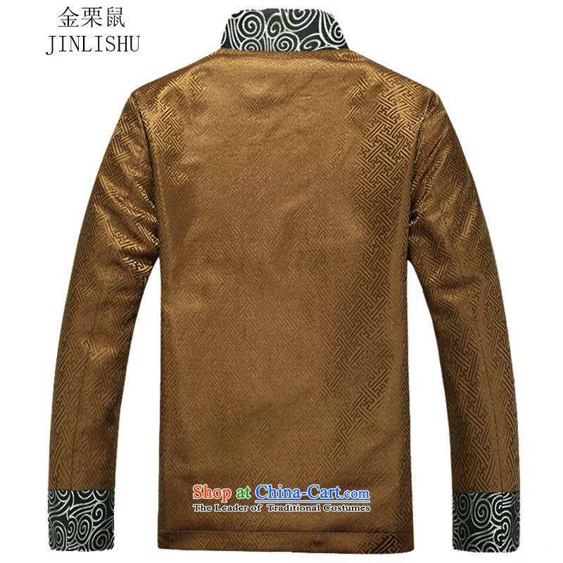 Kanaguri Mouse Tang dynasty Long-sleeve Autumn New Men Tang jackets, gold聽, L, Kim jacket gopher (JINLISHU) , , , shopping on the Internet