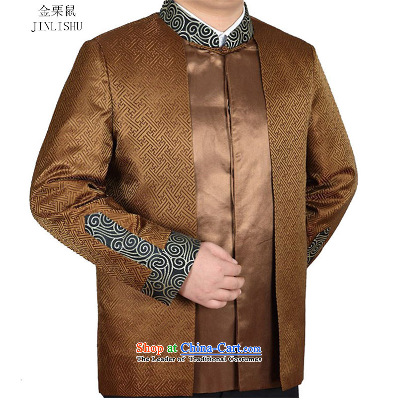 Kanaguri mouse with new fall Tang dynasty Long-sleeve men Tang jackets and Kim Ho�XL