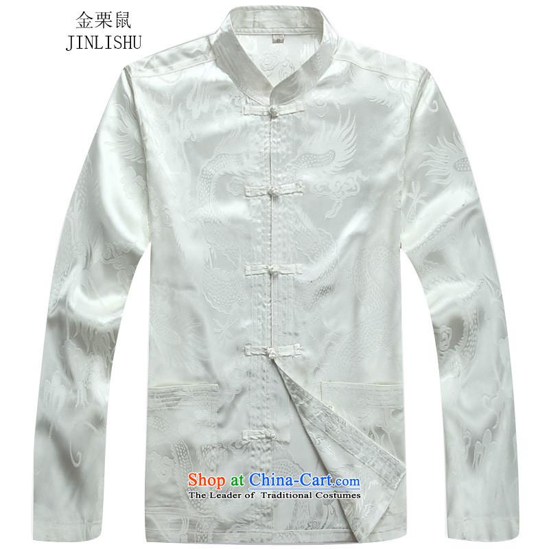 Kanaguri mouse autumn and winter, Tang Dynasty Package long-sleeved white kit installed father聽XXL, kanaguri mouse (JINLISHU) , , , shopping on the Internet