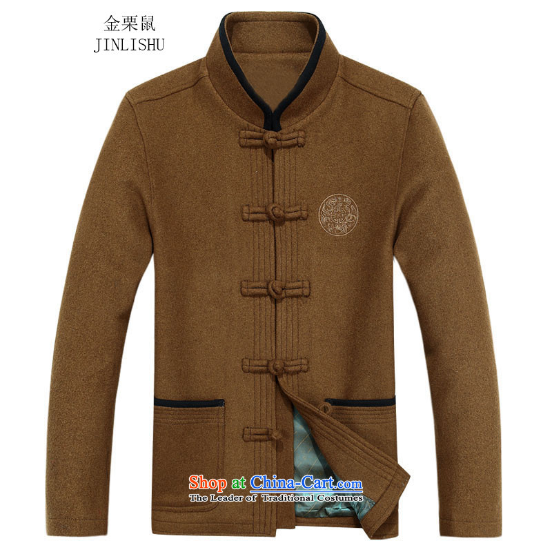 Kanaguri mouse in autumn, Tang older jacket jacket, long-sleeved shirt collar men Tang dynasty long-sleeved father loaded with anthuriam聽85
