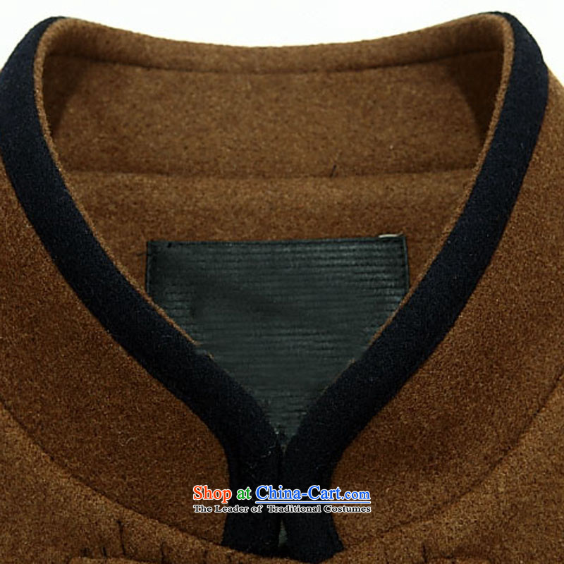 Kanaguri mouse in autumn, Tang older jacket jacket, long-sleeved shirt collar men Tang dynasty long-sleeved father replacing聽85 khaki kanaguri mouse (JINLISHU) , , , shopping on the Internet