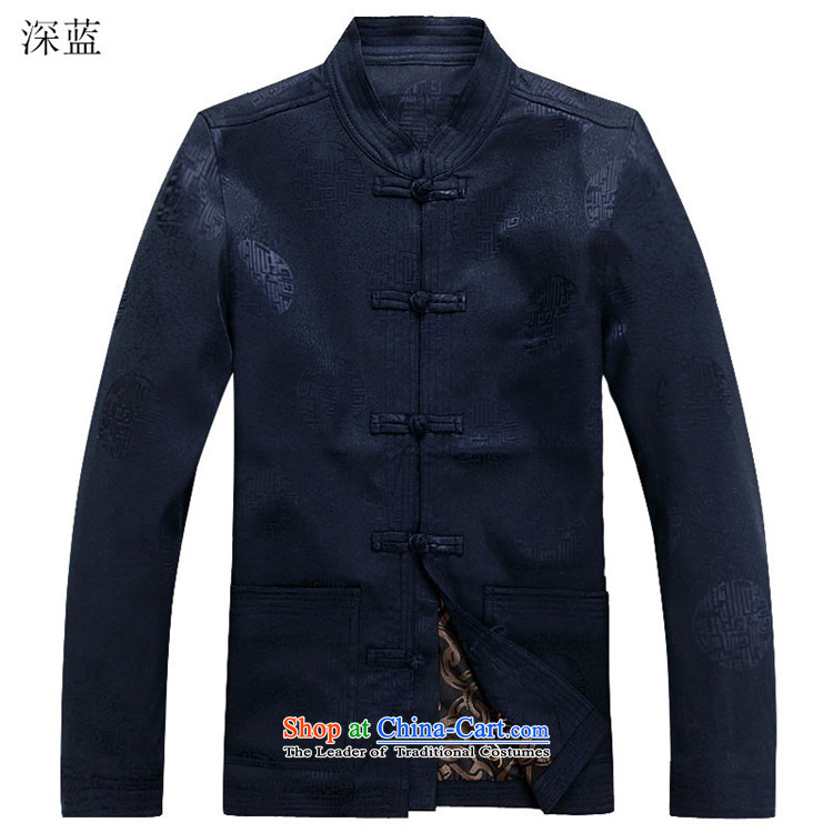 Kanaguri Mouse Suite New Tang dynasty Long-sleeve Kit Man Chun Tang dark blue jacket jacket coat聽S picture, prices, brand platters! The elections are supplied in the national character of distribution, so action, buy now enjoy more preferential! As soon as possible.