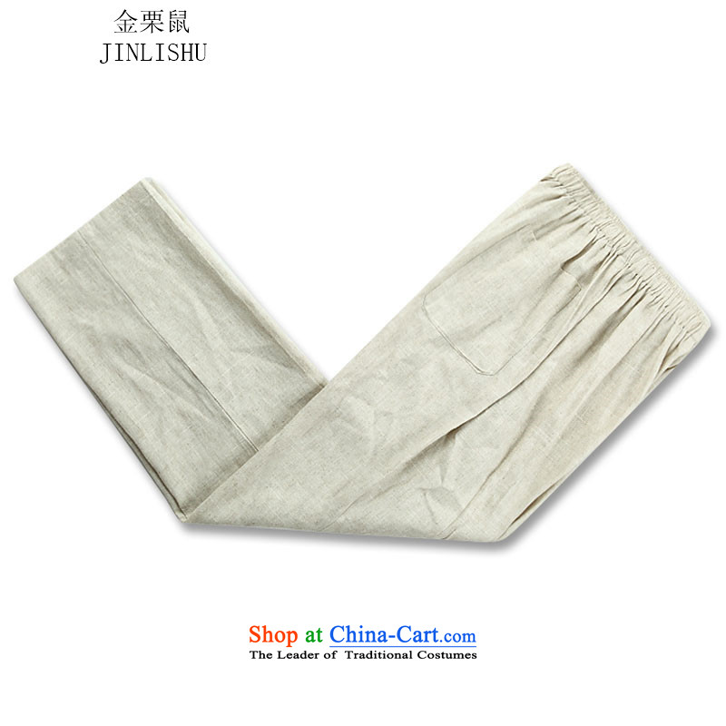 Kanaguri Mouse Choo, older men long-sleeved Tang Dynasty Package beige Kit聽, L kanaguri mouse (JINLISHU) , , , shopping on the Internet