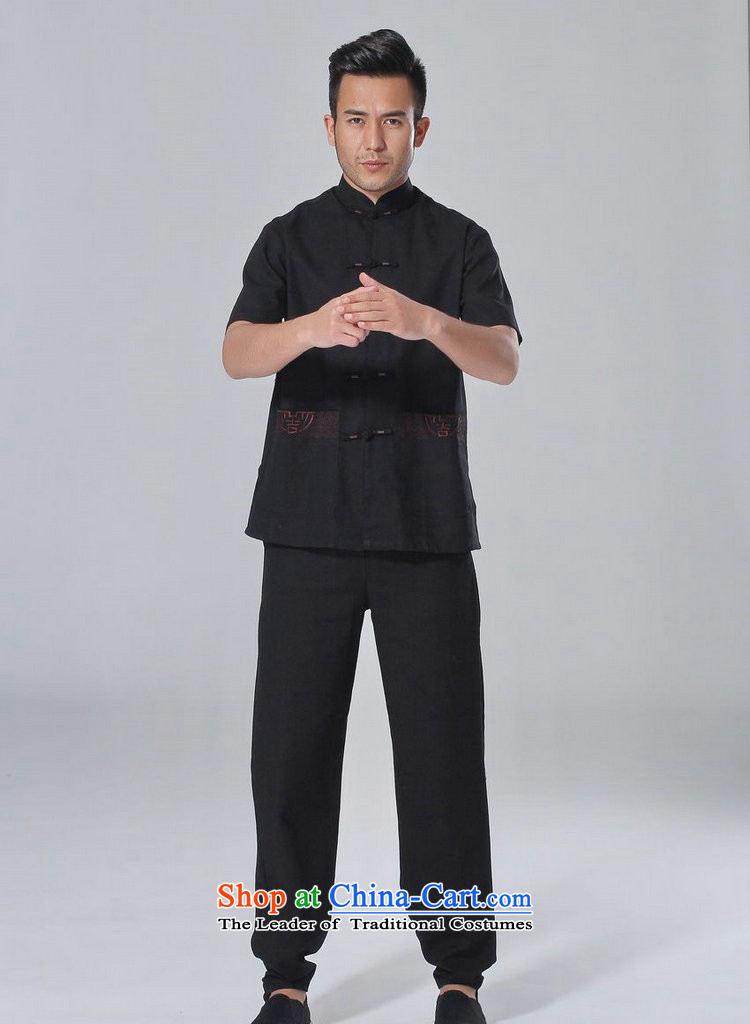 158 Jing in Tang Dynasty older men and summer cotton linen collar Chinese Tai Chi Man serving short-sleeve kit for larger men's kung fu kit white聽L picture, prices, brand platters! The elections are supplied in the national character of distribution, so action, buy now enjoy more preferential! As soon as possible.