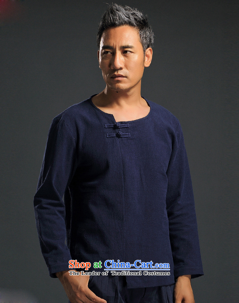 China wind men HANNIZI long-sleeved shirt and improvement of Tang Dynasty male and stylish with Han-ethnic white T-shirt XXXL picture, prices, brand platters! The elections are supplied in the national character of distribution, so action, buy now enjoy more preferential! As soon as possible.
