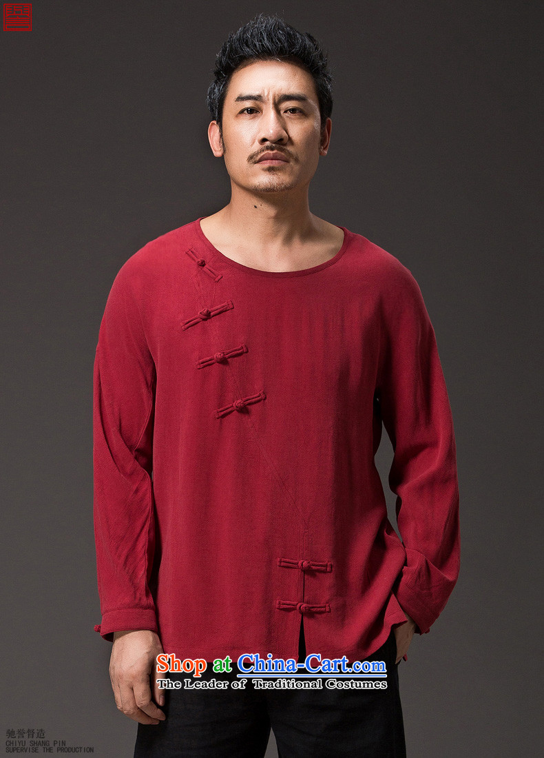 Renowned Chinese men serving long-sleeved linen autumn Tang Dynasty, China wind jacket loose cotton linen tray clip ends Han-need improved national orange L picture, prices, brand platters! The elections are supplied in the national character of distribution, so action, buy now enjoy more preferential! As soon as possible.