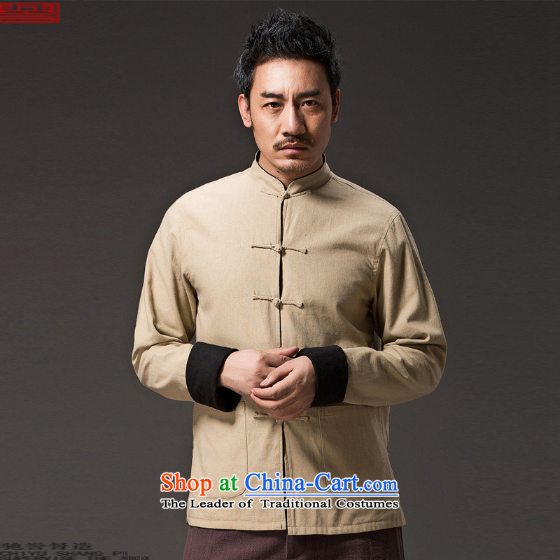 Renowned Chinese Services China wind retro men wearing Chinese men duplex Tang dynasty long-sleeved Sau San Disk Spring Collar Snap 0368 Jacket WongXL, renowned (chiyu) , , , shopping on the Internet