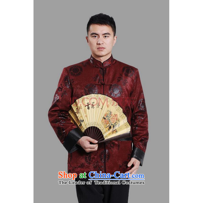 Picking Frequency Male jacket water Sable Hair Tang Add Tang dynasty lint-free men long-sleeved sweater Chinese Dragon Tang blouses red XXL, picking frequency , , , shopping on the Internet