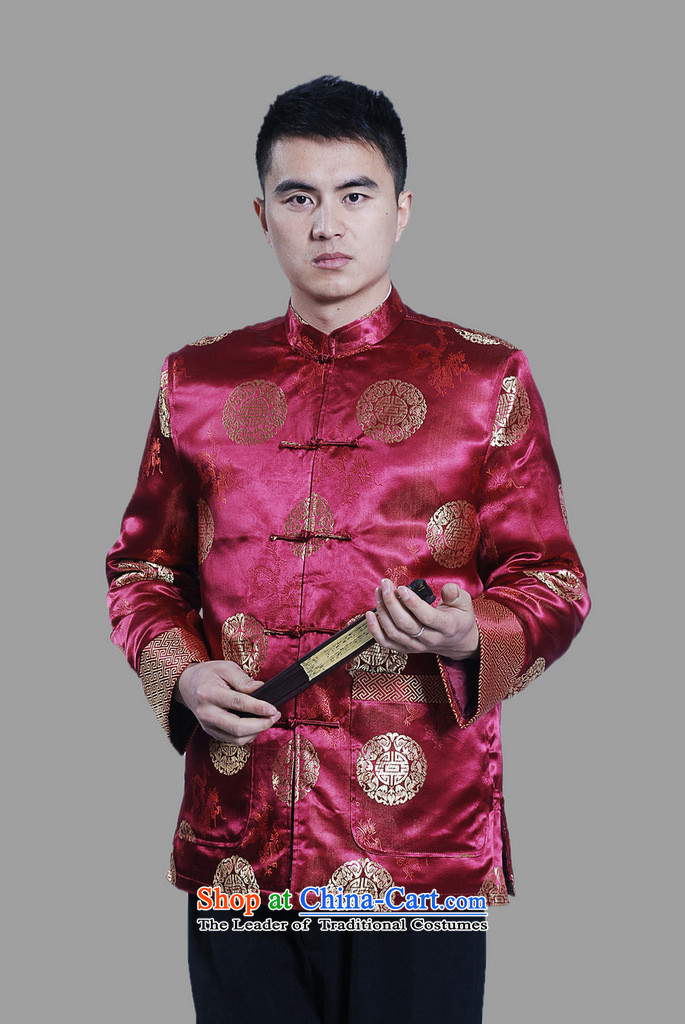 Picking Frequency Male jacket thick cotton plus add-Tang Tang replacing men long-sleeved sweater Chinese Dragon Tang blouses large red聽XXXL picture, prices, brand platters! The elections are supplied in the national character of distribution, so action, buy now enjoy more preferential! As soon as possible.