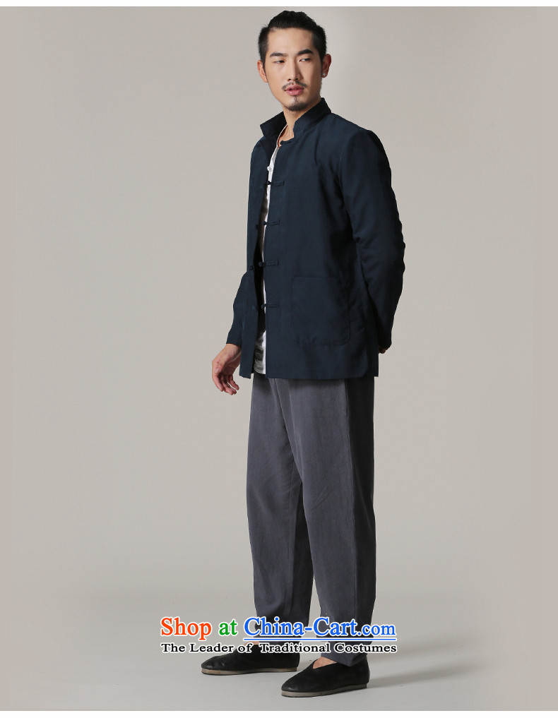 Jockeys Leopard Health Tang jackets men fall 2015 New Chinese Disc detained retro China wind men's national costume designer brands dark blueL picture, prices, brand platters! The elections are supplied in the national character of distribution, so action, buy now enjoy more preferential! As soon as possible.