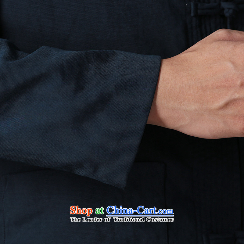 Jockeys Leopard Health Tang jackets men fall 2015 New Chinese Disc detained retro China wind men's national costume designer brands dark blue, L jockeys Leopard (QIBAOLANG) , , , shopping on the Internet
