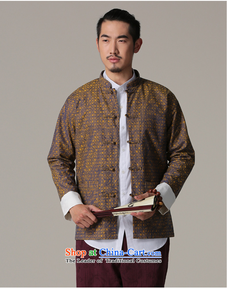Jockeys Leopard health jacket Tang dynasty and the autumn and winter new national dress uniform ball-China wind Chinese Disc detained men's shirts retro designer brands XXXL Blue Photo, prices, brand platters! The elections are supplied in the national character of distribution, so action, buy now enjoy more preferential! As soon as possible.