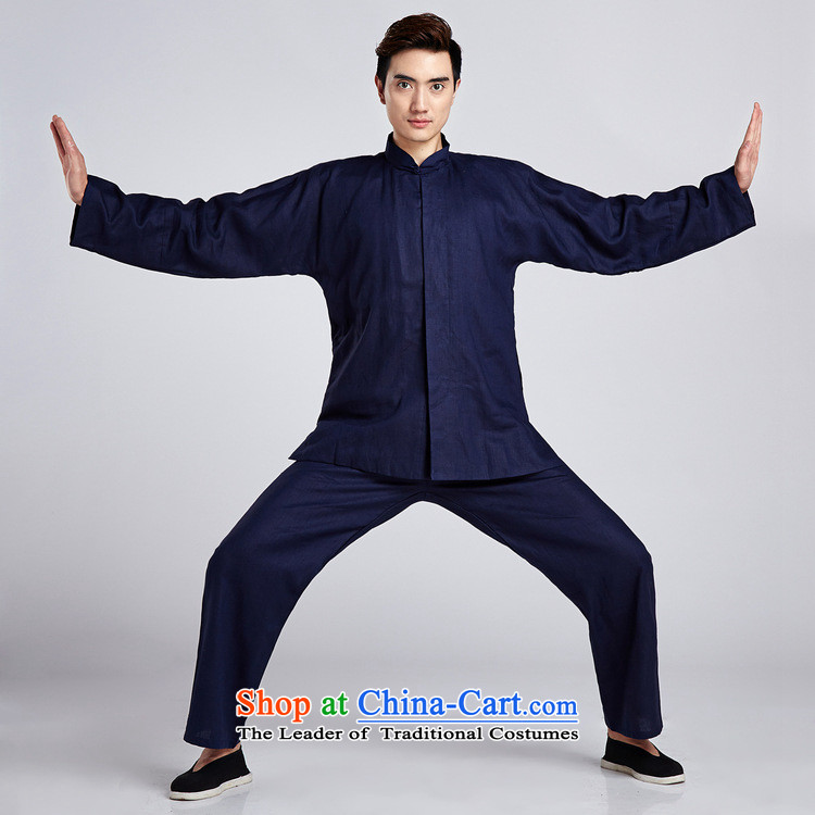 Dan smoking flax men Tang Dynasty Package China wind shirt collar Chinese Classical Chinese tunic Taegeuk Service Han-kung fu shirt - 6 2XL Photo, prices, brand platters! The elections are supplied in the national character of distribution, so action, buy now enjoy more preferential! As soon as possible.