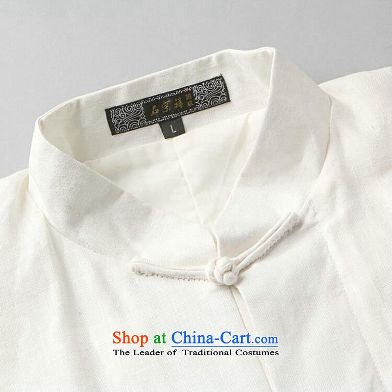 Dan smoking flax men Tang Dynasty Package China wind shirt collar Chinese Classical Chinese tunic Taegeuk Service Han-kung fu shirt-6 2XL, Dan Smoke , , , shopping on the Internet