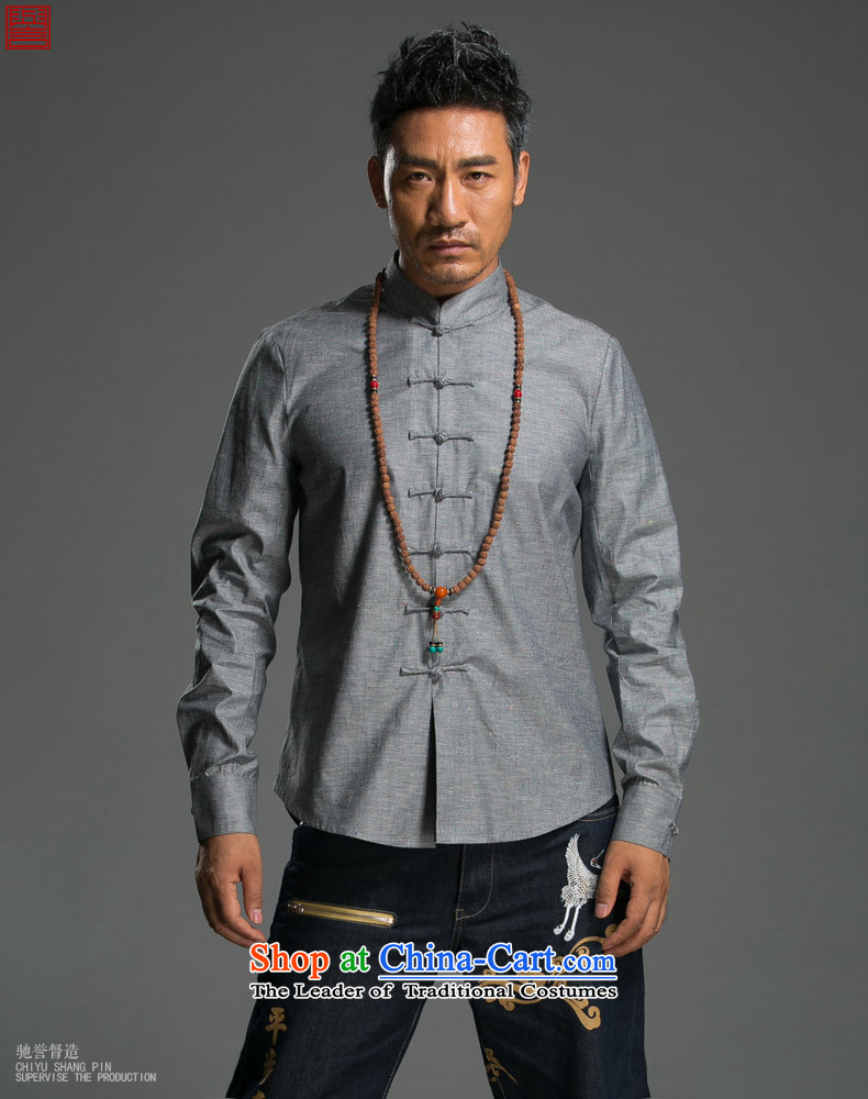 Renowned Chinese Services China wind long-sleeved shirt men of autumn and winter cotton linen flax shirts and T-shirt collar disc detained pure color Tang dynasty male and green聽2XL Photo, prices, brand platters! The elections are supplied in the national character of distribution, so action, buy now enjoy more preferential! As soon as possible.