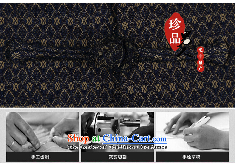 Renowned China wind embroidery autumn and winter Han-Tang Dynasty Male Male knitting cowboy shirt collar jacket Chinese tunic national dress jacket and light gray聽XXXL picture, prices, brand platters! The elections are supplied in the national character of distribution, so action, buy now enjoy more preferential! As soon as possible.