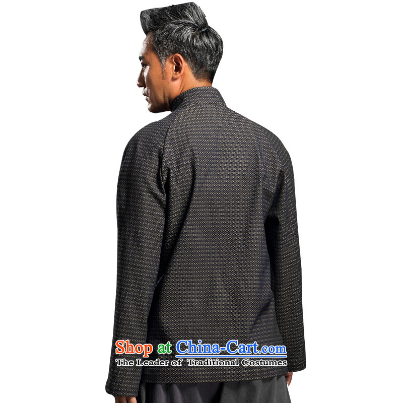 Renowned China wind embroidery autumn and winter Han-Tang Dynasty Male Male knitting cowboy shirt collar jacket Chinese tunic national dress jacket and light gray聽XXXL, renowned (CHIYU) , , , shopping on the Internet