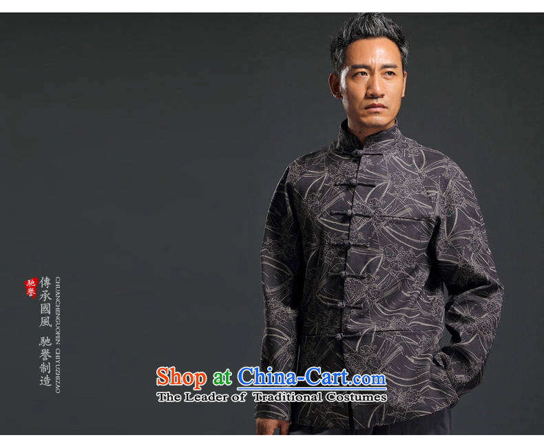 Renowned China wind embroidery autumn and winter Han-Tang Dynasty Male Male knitting cowboy shirt collar jacket Chinese tunic national dress jacket and light gray聽XL Photo, prices, brand platters! The elections are supplied in the national character of distribution, so action, buy now enjoy more preferential! As soon as possible.