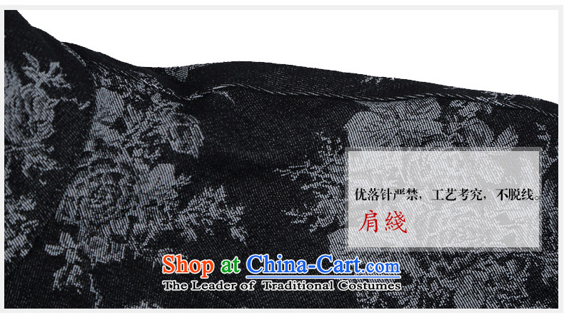 Renowned China wind embroidery autumn and winter Han-Tang Dynasty Male Male knitting cowboy shirt collar jacket Chinese tunic national dress jacket and black聽XXXL picture, prices, brand platters! The elections are supplied in the national character of distribution, so action, buy now enjoy more preferential! As soon as possible.
