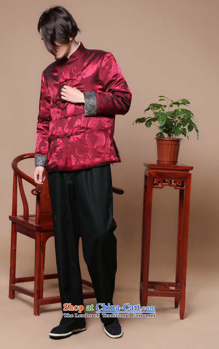 Spend the winter of ethnic figure Tang Gown robe jacket collar disc detained men of nostalgia for the elderly in the Tang dynasty, cotton-dark redM picture, prices, brand platters! The elections are supplied in the national character of distribution, so action, buy now enjoy more preferential! As soon as possible.