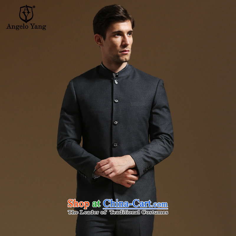 In its speaker men Chinese tunic commerce is casual Chinese collar suit male Korean Sau San suits gray聽XL/180A,ANGELOYANG,,, shopping on the Internet