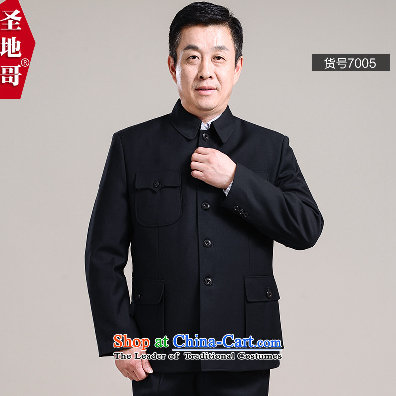 Replace the middle-aged men father Chinese tunic kit of older persons in the Zhongshan clothing spring jackets father replacing men�005 dark�5_74