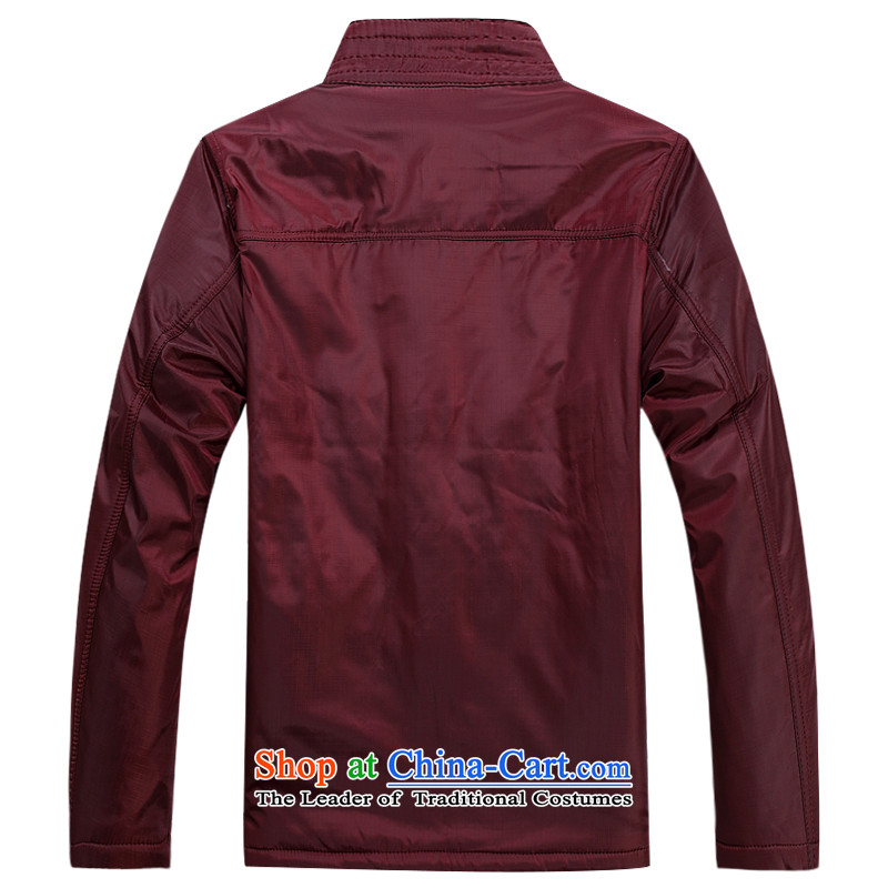 Ming Emperor Wei genuine men Tang dynasty 2015 autumn and winter new embroidery dragon cotton coat Tang Dynasty Chinese Democracy detained disc retro-fitted with older dad grandpa聽190/XXXXL, Ming Emperor Red Gifts Wai , , , shopping on the Internet