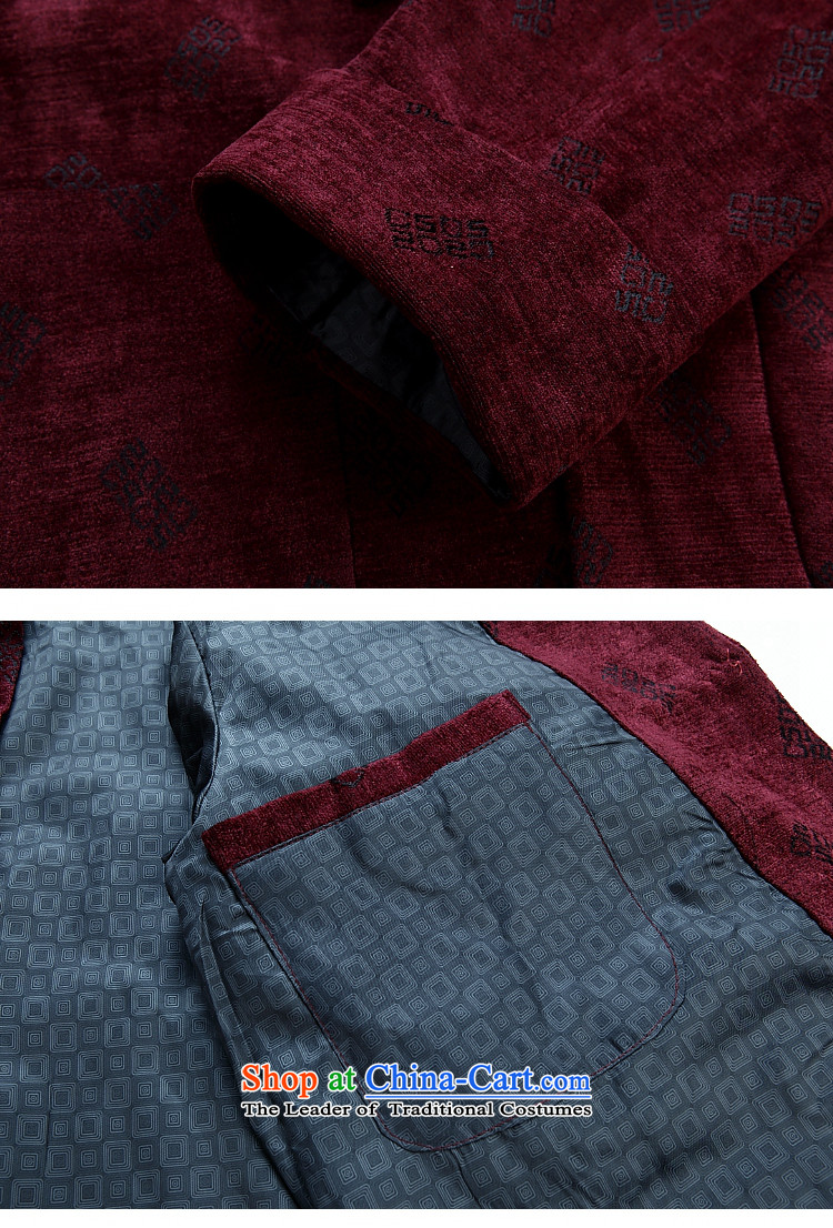 Ming Emperor Wei genuine men Tang dynasty 2015 autumn and winter new Tang jackets classic retro-clip Chinese democratic wind load grandpa load older dad gifts聽185/XXXL red picture, prices, brand platters! The elections are supplied in the national character of distribution, so action, buy now enjoy more preferential! As soon as possible.