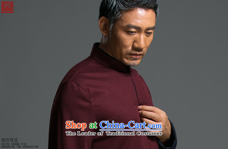 Renowned Chinese Services China wind and loose spring long-sleeved Tang Dynasty Chinese Men's Mock-Neck national tray clip jacket improved Han-9165 Dark Blue聽2XL Photo, prices, brand platters! The elections are supplied in the national character of distribution, so action, buy now enjoy more preferential! As soon as possible.