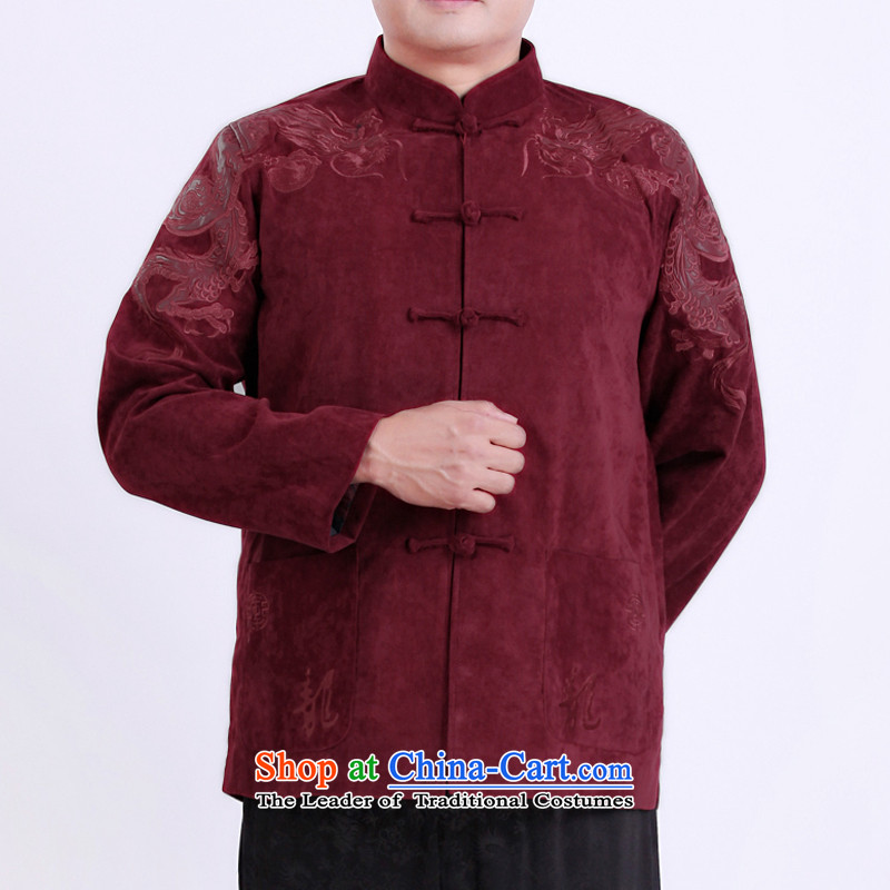 The Rafael Hui Kai Man Tang dynasty during the spring and autumn new men aged jackets Tang men Tang blouses 13130 red聽T-shirt, Timor Sze 180 Hoi , , , shopping on the Internet