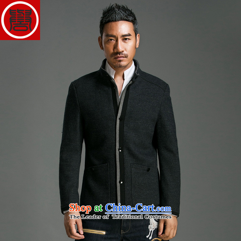 Renowned Chinese services gross coats short men? jacket collar gross? windbreaker Sau San Uk gentleman jacket for autumn and winter coats and 8020 carbon?L