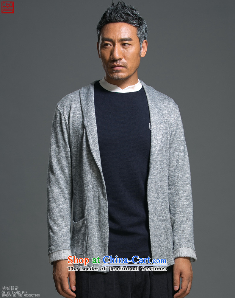 Renowned Chinese Services China wind load spring and autumn new man jacket lapel pins with a Chinese Sau San knitting cardigan long-sleeved sweater sweater Light GrayL picture, prices, brand platters! The elections are supplied in the national character of distribution, so action, buy now enjoy more preferential! As soon as possible.