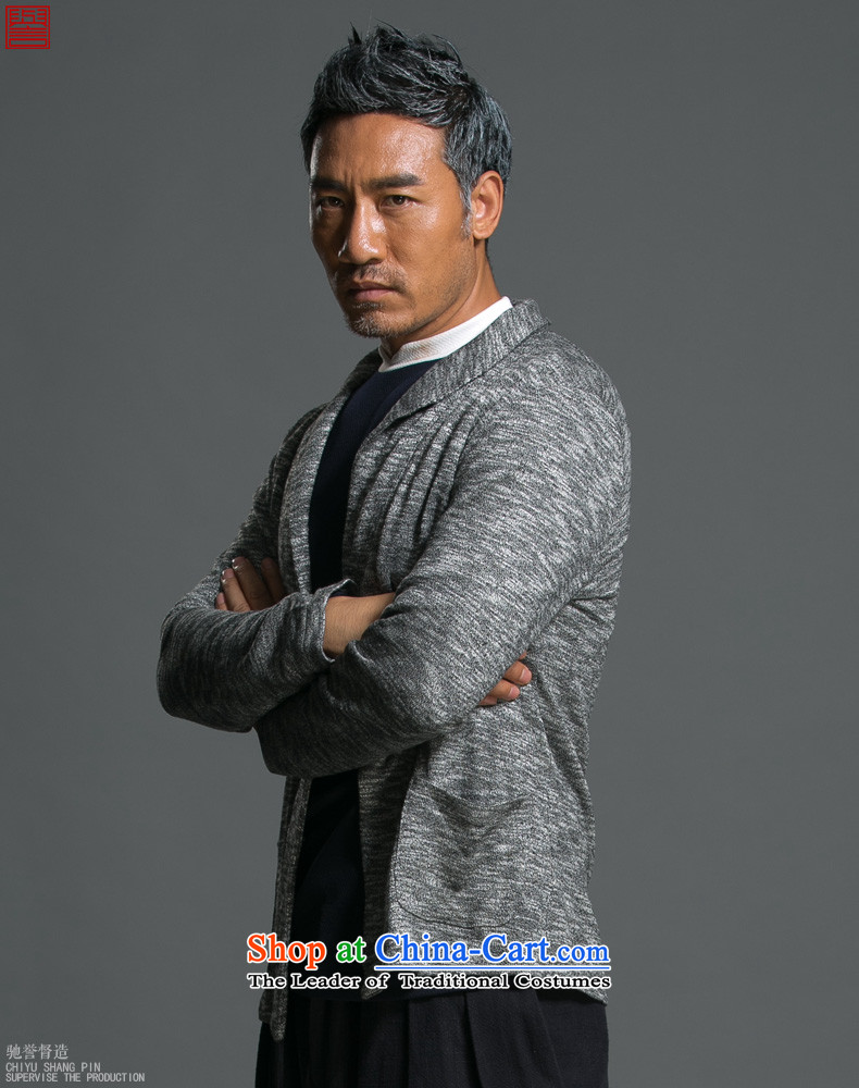 Renowned Chinese Services China wind load spring and autumn new man jacket lapel pins with a Chinese Sau San knitting cardigan long-sleeved sweater sweater Light Gray L picture, prices, brand platters! The elections are supplied in the national character of distribution, so action, buy now enjoy more preferential! As soon as possible.