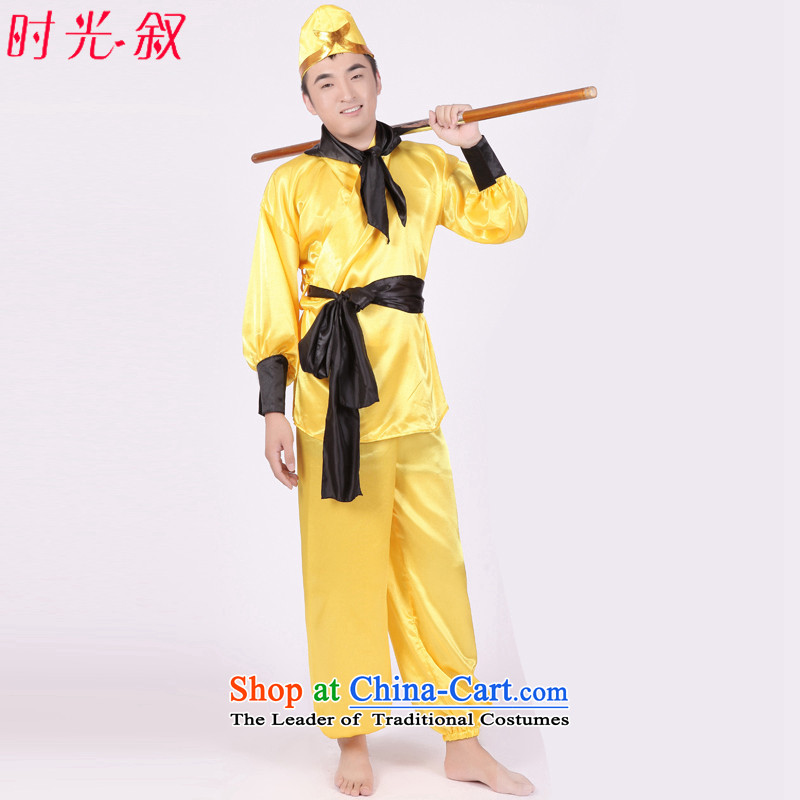 Time Syrian Journey To The West clothing props full costume Tang monk and disciples four persons 8 Treatment Sha monks sonogong stage drama costumes annual men Halloween Journey To The West - The Monkey King and hat adult 160-175CM_